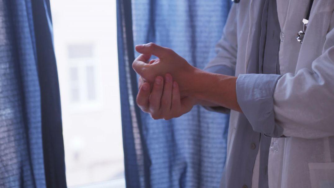 Doctor Hands Using Sanitizer
